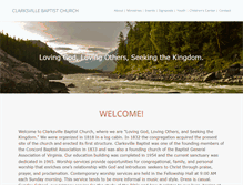 Tablet Preview of clarksvillebaptist.org